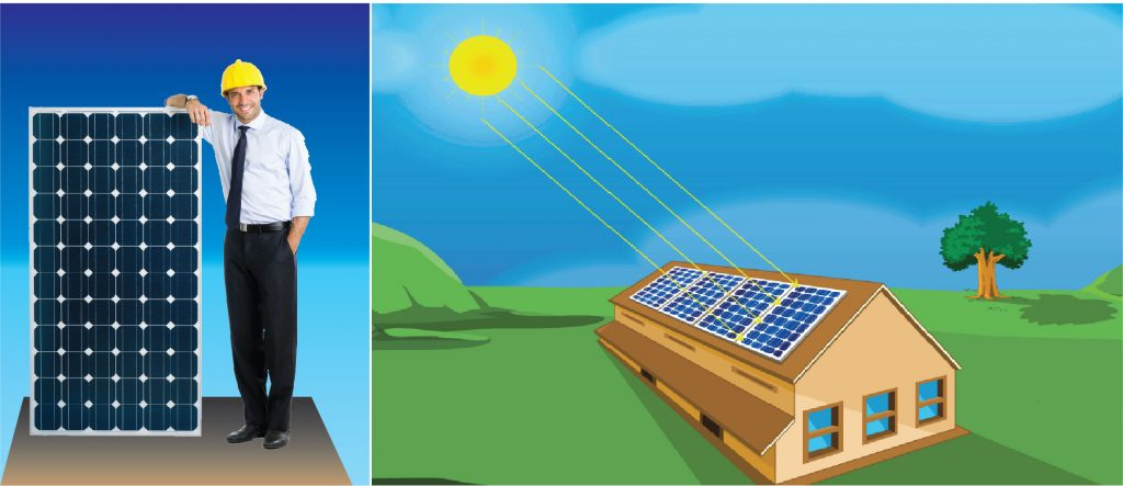 Study solar panel installation as part of renewable energy courses